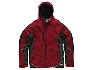 Two Tone Softshell Red/Black Jacket - XXL (52-54in)